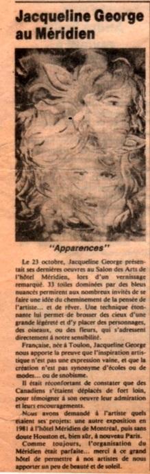 Le Courrier Français -Montréal 12.1980